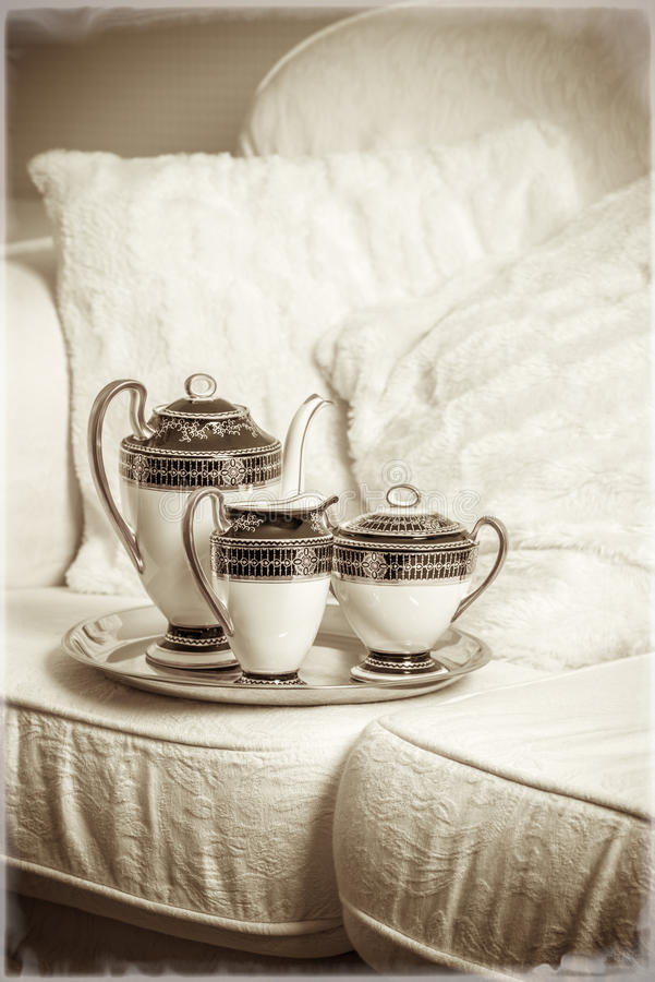 Antique Tea Set royalty free stock photography