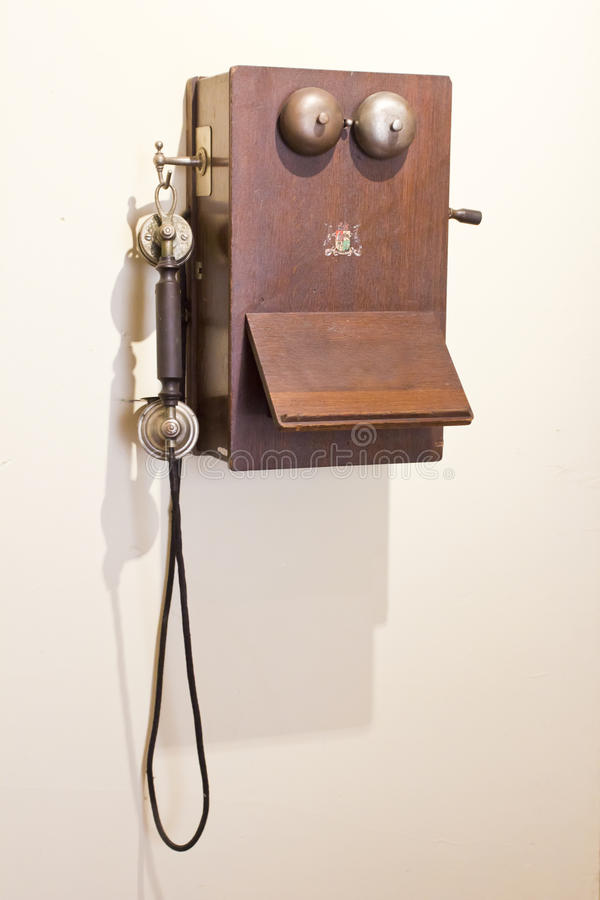 Download Antique telephone stock image. Image of wood, unique - 29021223