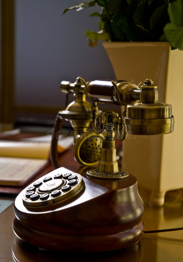 Download Antique telephone stock image. Image of technology, vintage - 5554287