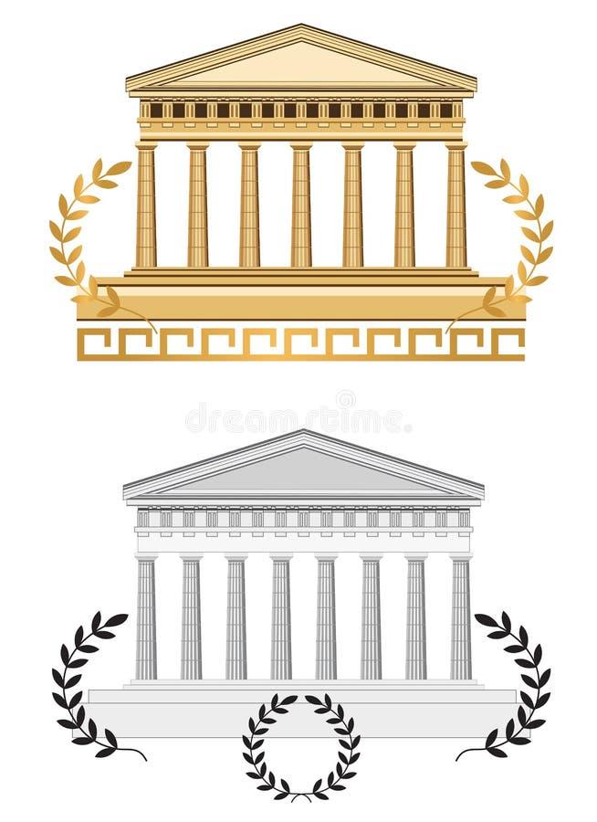 Download Antique Temple Facade stock vector. Illustration of antique - 24542023