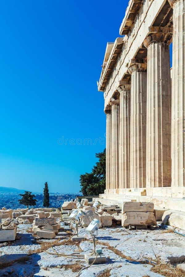 Antique Temple Parthenon, Acropolis, Athens stock photography