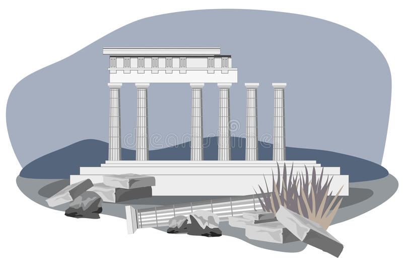 Download Antique Temple Ruins stock vector. Image of classical - 24542005