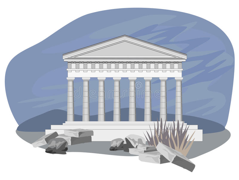 Download Antique Temple Ruins stock vector. Image of culture, hellenic - 24542010