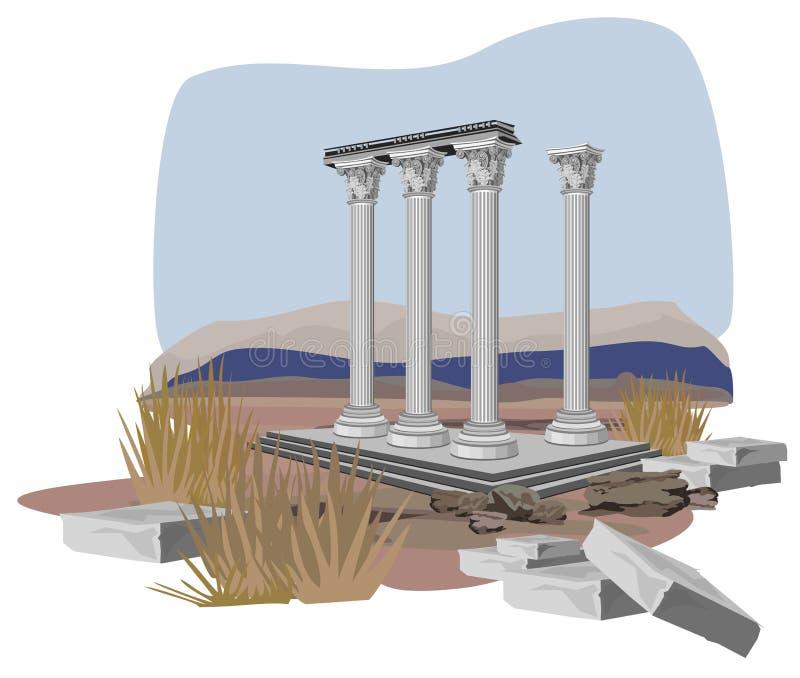 Antique Temple Ruins Stock Image