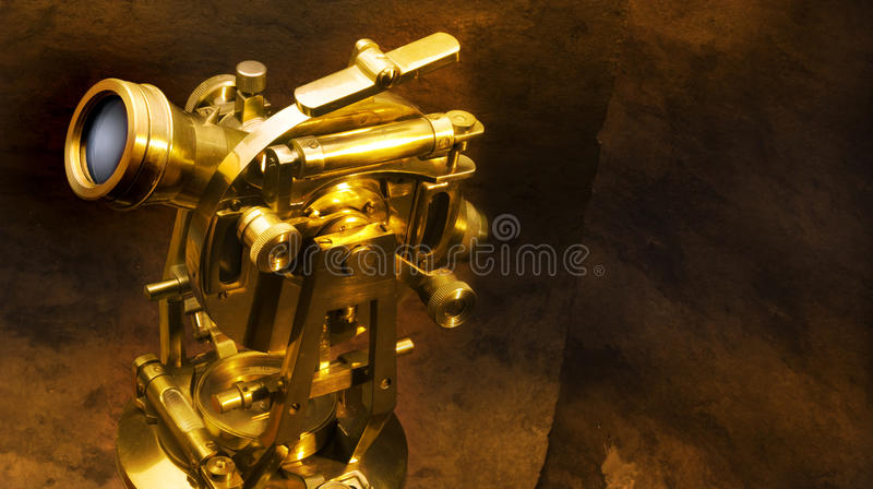 Antique theodolite royalty free stock photo