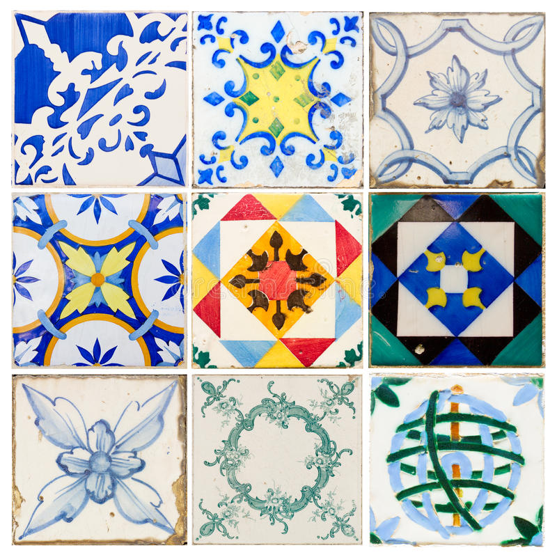 Antique tiles of Lisbon royalty free stock image