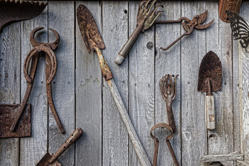hanging tools on wall antique tool wall stock image image of wall farrier 4145