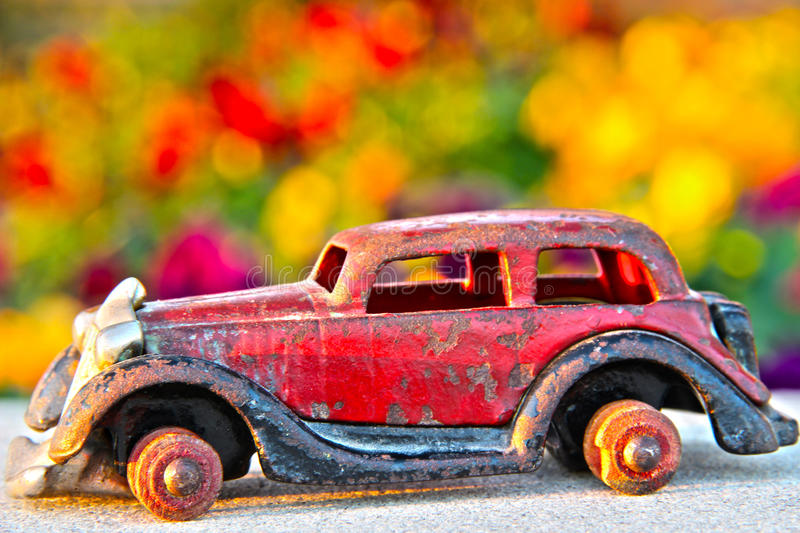 Antique toy car royalty free stock image