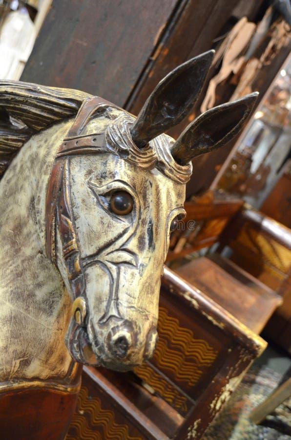 Antique Toy Horse stock photos