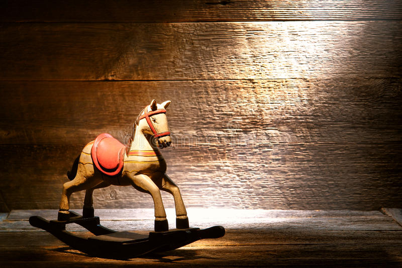 Download Antique Toy Rocking Horse In Dusty Old House Attic Stock Image - Image of rocking, scene: 26677081