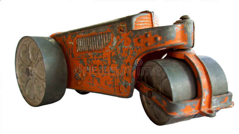 Antique Toy Tractor Road Roller stock photography