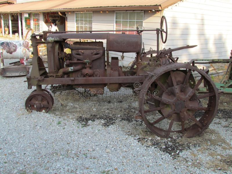 Antique tractor royalty free stock photo
