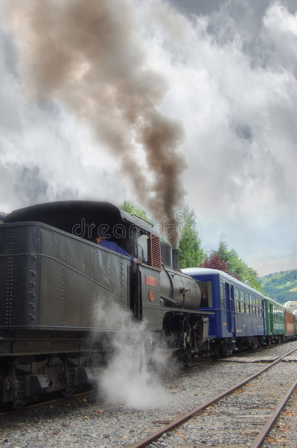 Free Antique Train Parked Royalty Free Stock Image - 2865526