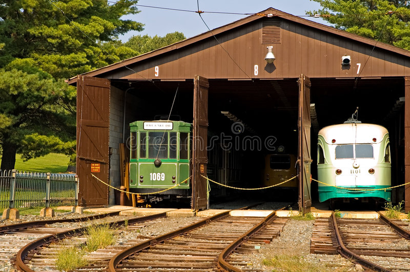 Download Antique Trolley Barn Stock Photography - Image: 1238122