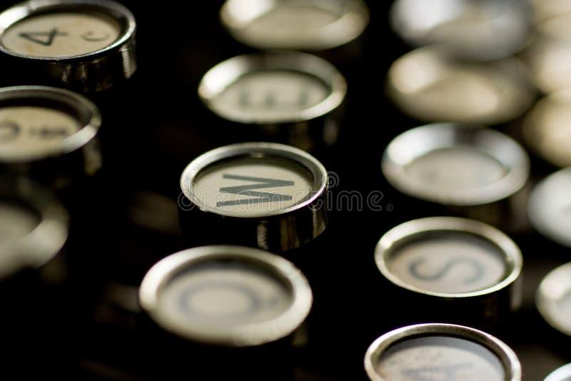 Antique typewrite. Old machine for writing. Antique typewrite stock photos