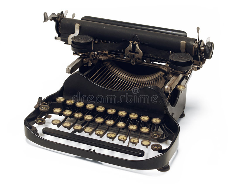 Antique typewriter stock images