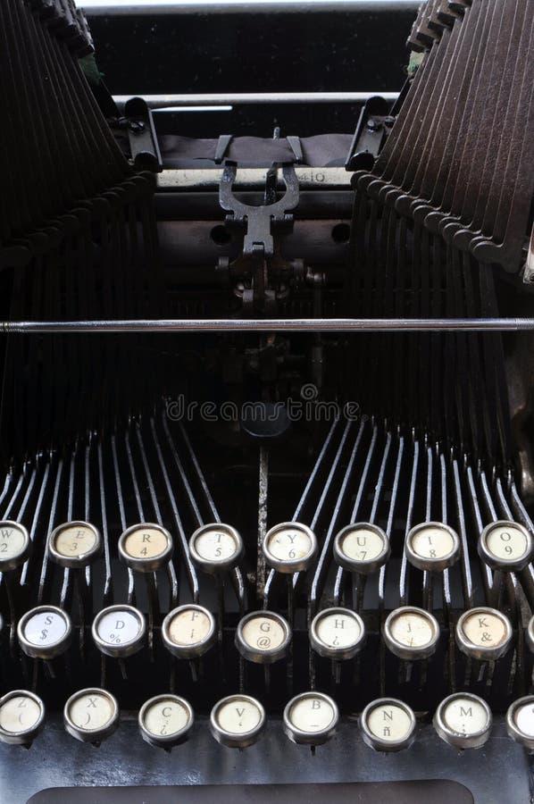 Antique typewriter. Close up of antique typewriter royalty free stock images