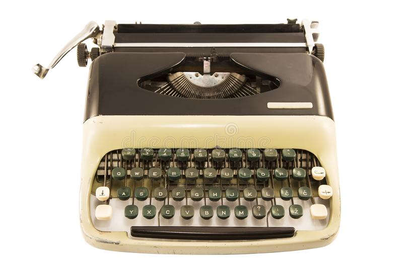 Typewriter. Antique typewriter isolated on white background royalty free stock photos