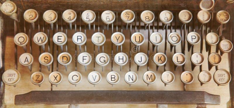 Antique typewriter. Qwerty keyboard of an antique typewriter royalty free stock photography