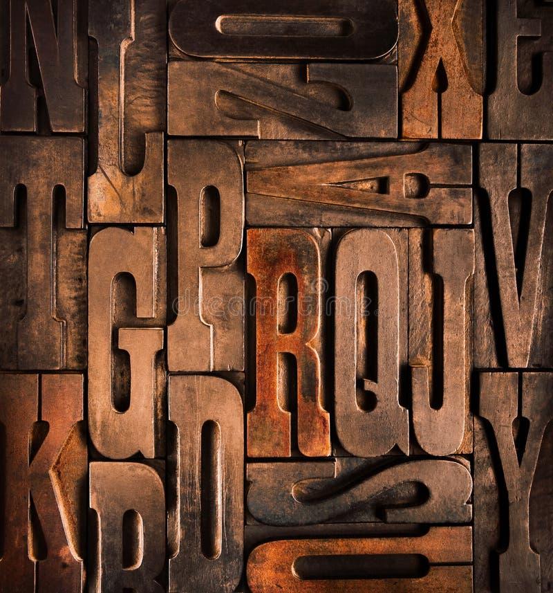 antique typographic blocks royalty free stock images