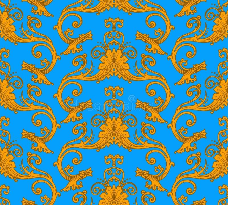 Antique victorian seamless pattern vector illustration