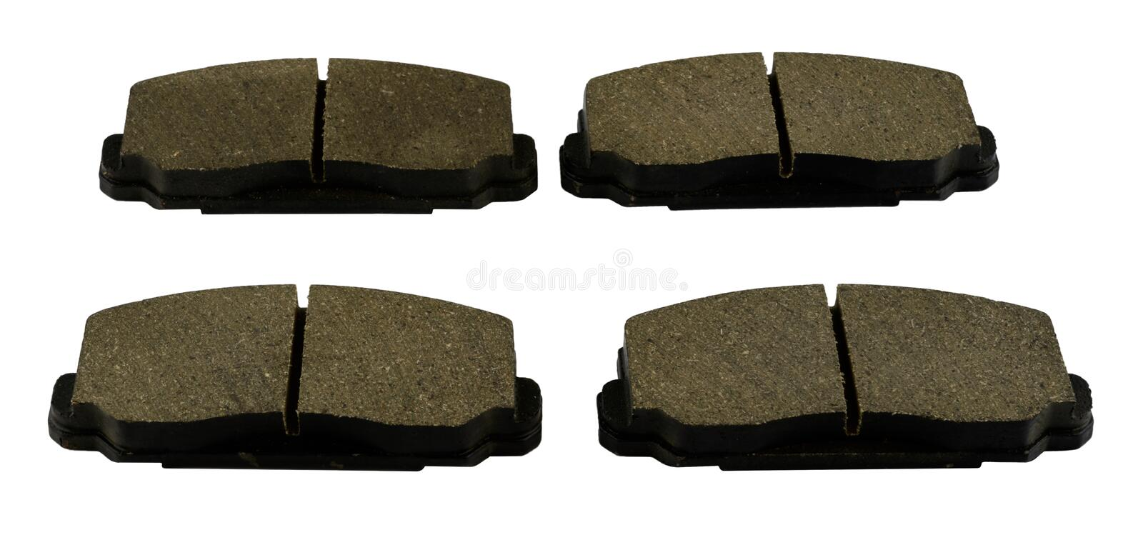 Antique vintage american automobile hydraulic disc brake pad set royalty free stock photography