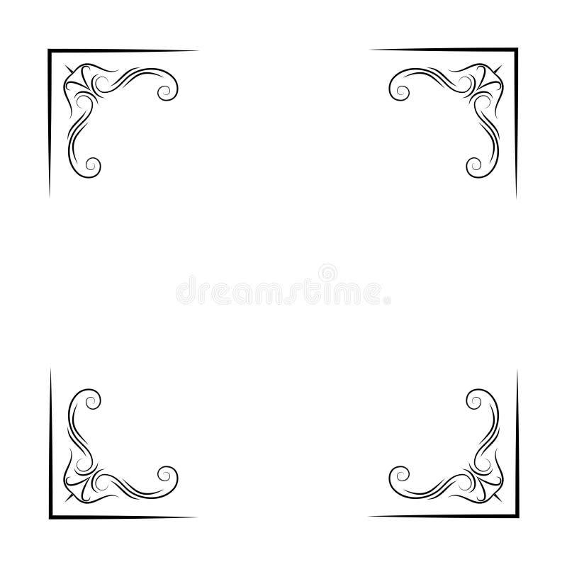Antique vintage corners. Filigree and flourish elements. Vector illustration. vector illustration