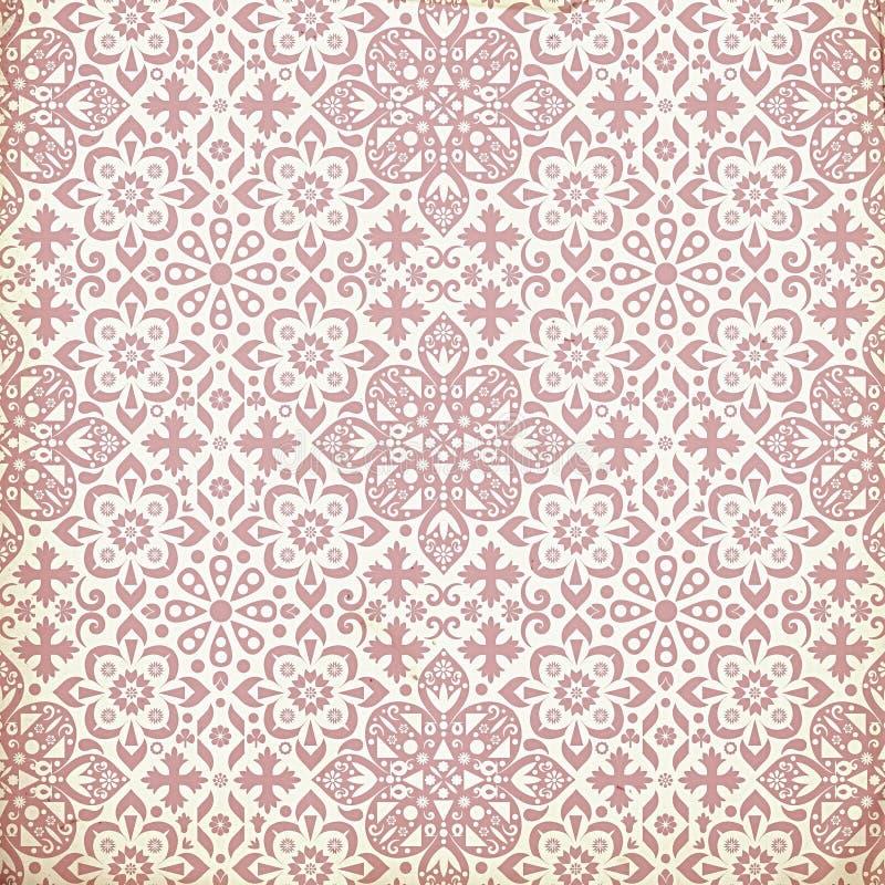 Antique vintage decorative paper wallpaper royalty free illustration
