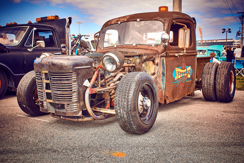 Antique vintage and old cars. stock images