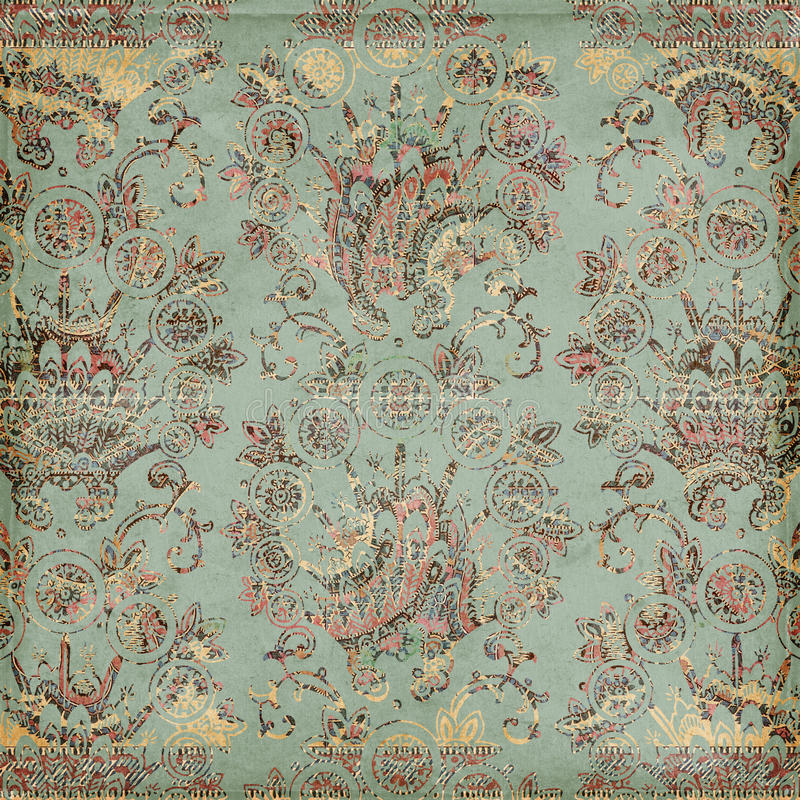 Antique Vintage paisley indian background. Design royalty free stock photo