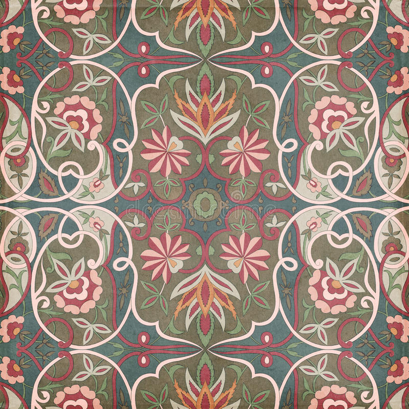 Antique Vintage paisley indian background. Design stock images