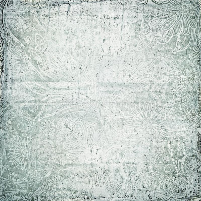 Antique vintage paisley texture royalty free stock image