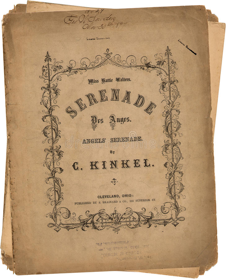 Download Antique Vintage Paper Song Sheets Stock Image - Image: 10194261