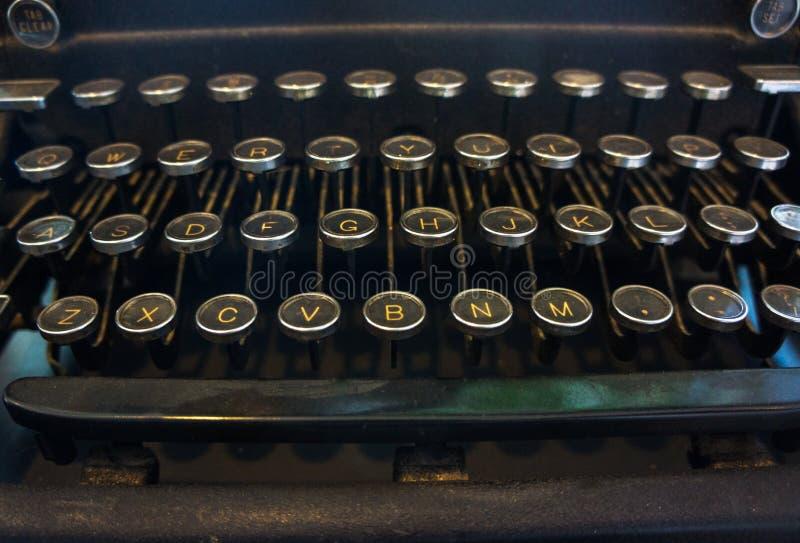 Antique Vintage Retro Typewriter Keys Closeup royalty free stock images