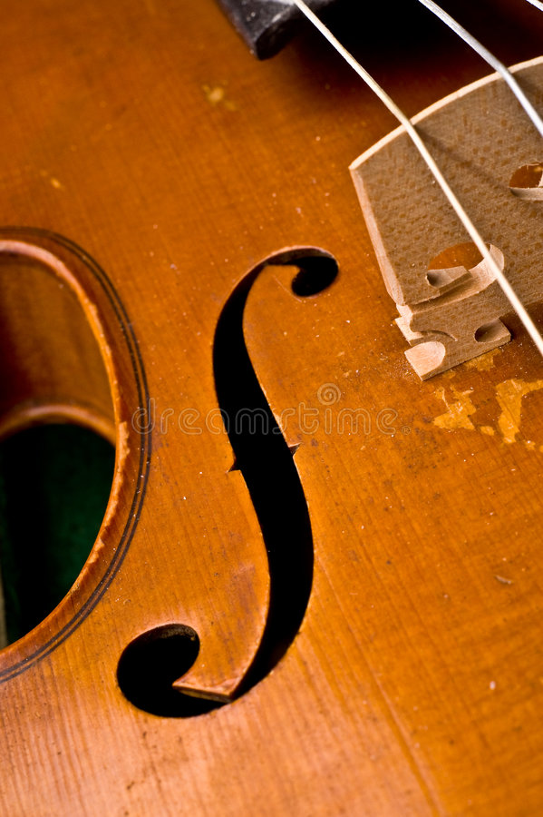 Antique violin royalty free stock photos