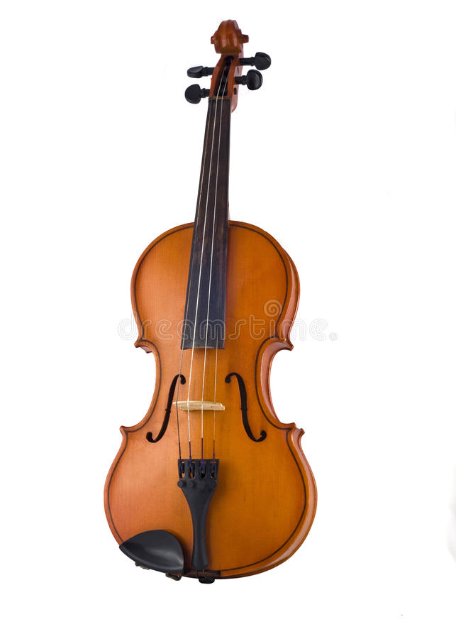 Antique violin isolated stock photography