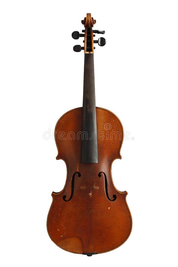 Antique violin without strings for restoration royalty free stock photography