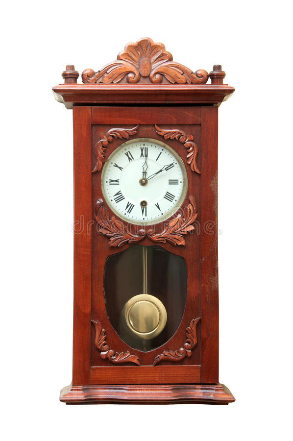 Download Antique Wall Clock Isolated On White Stock Image - Image: 22604981