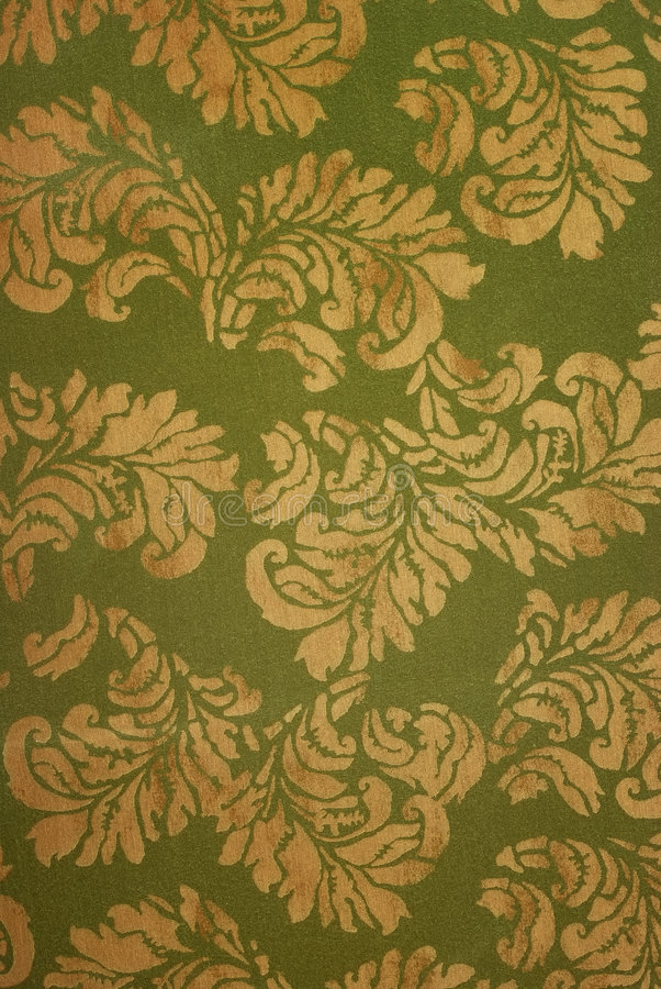 Antique Wallpaper. With gold leaf for background stock images