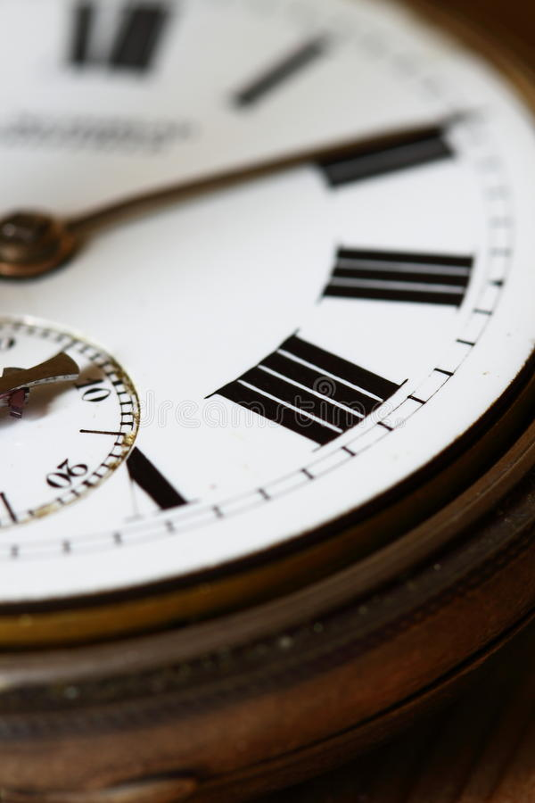 Antique watch face A. Photograph of the face of an antique watch royalty free stock photos