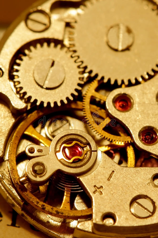 Antique watch mechanism royalty free stock image