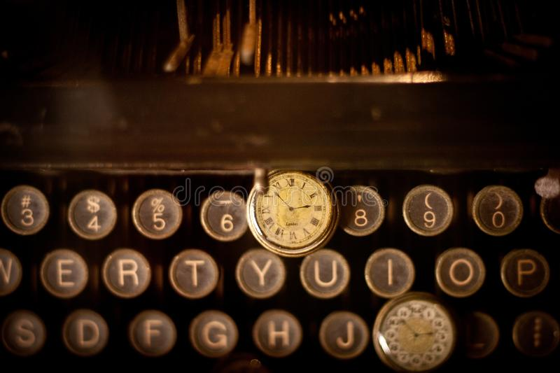 Antique Watch On Typewriter Keys Free Public Domain Cc0 Image