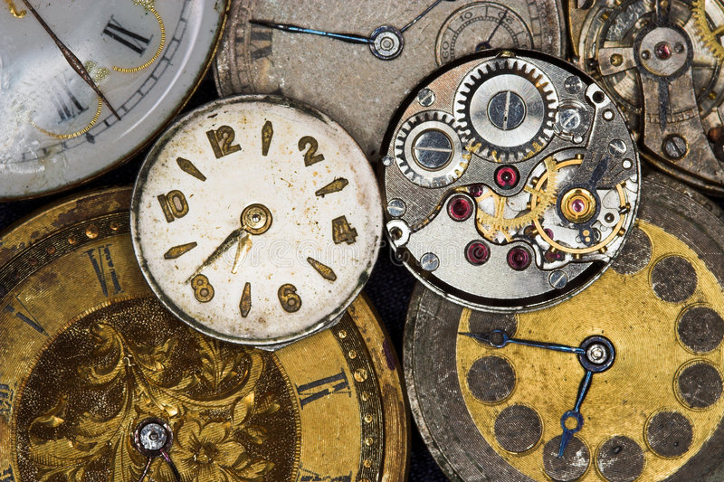 Antique watches stock images