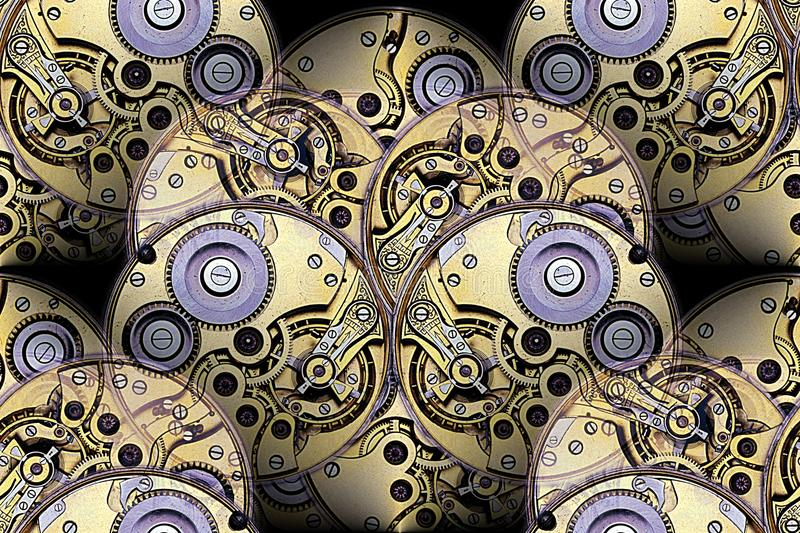 Antique watchworks mechanism abstract stock photography