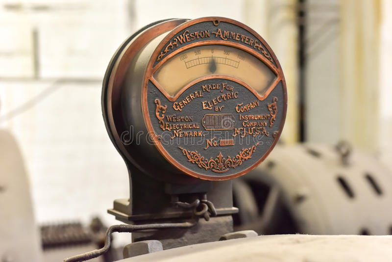 Antique Weston Ammeter in Grand Central - New York royalty free stock images