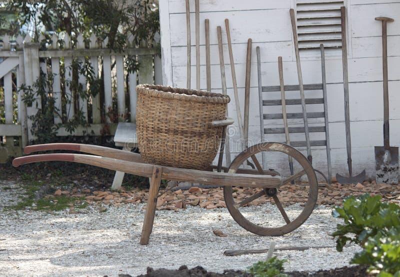 Antique wheelbarrow royalty free stock photography