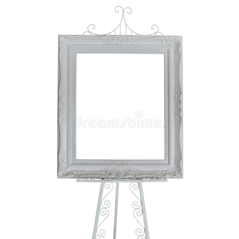 Antique White Picture Frames On Stand Photo Stock Photo - Image of ...