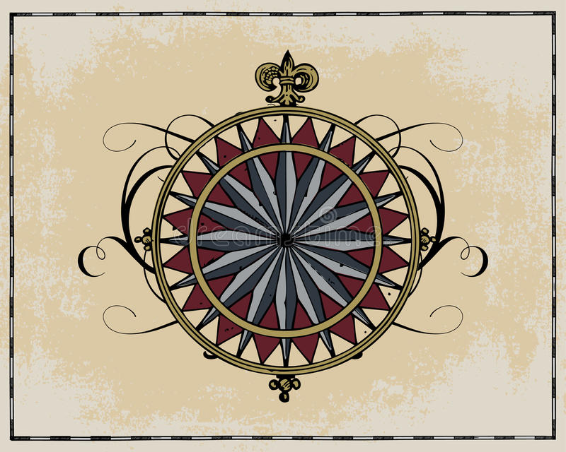 Download Antique wind rose stock vector. Illustration of south - 14496072