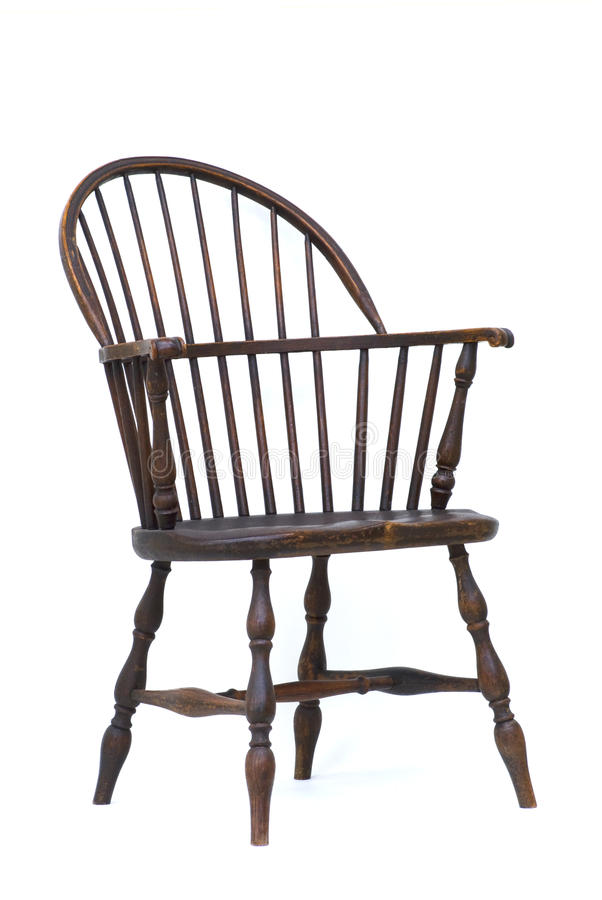 Antique Windsor chair isolated royalty free stock photos