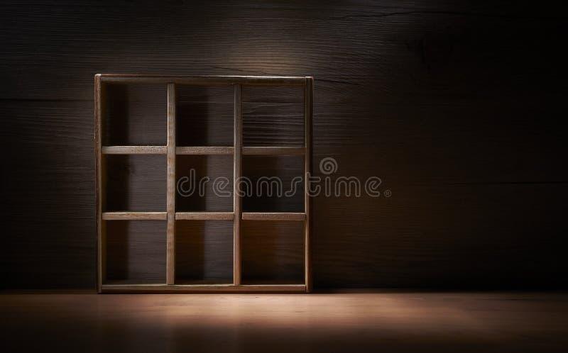 Antique Wood Box. Brown background workmanship stock photos